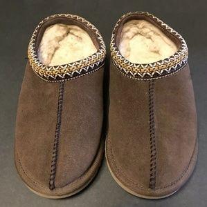 Ugg Australia Tasmsn Brown Leather Slippers Size 5